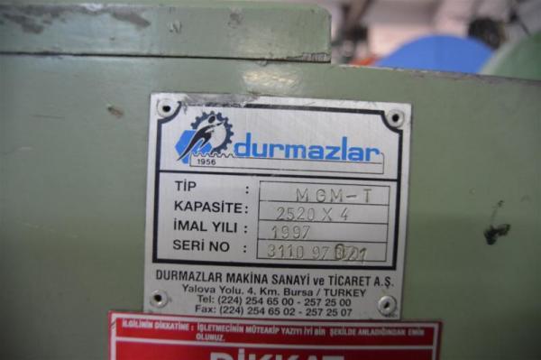 DURMAZLAR GİYOTİN MAKAS 2520x4 mm