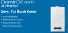 Demirdöküm Adonis B 24 24 Kw 20000 Kcal/h Bacalı Kombi      Çift Eşanjör Sistemi            Ç