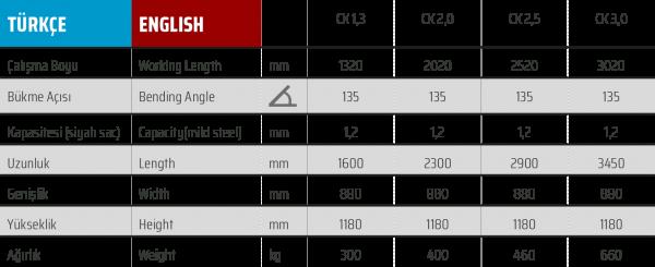 CK 2,5 x 1,2mm Havalandırma Caka Kenet