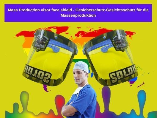 Face protection face protection for mass production - Gesichtsschutz Gesichtsschutz für die Massenproduktion