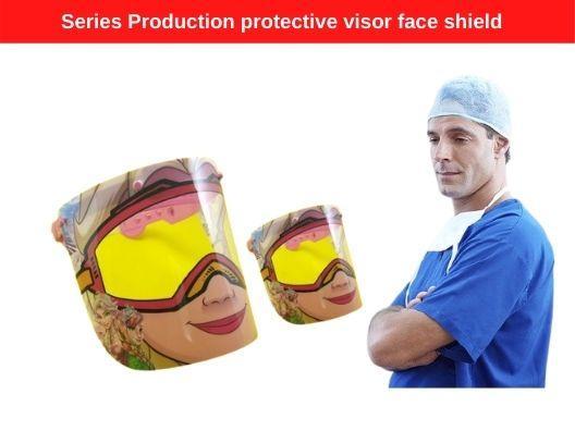 Series Production protective visor face shield- Serienproduktion Schutzvisier Gesichtsschutz